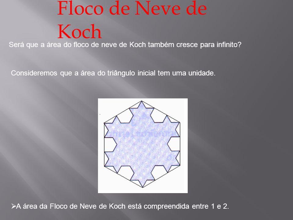 Floco de Neve de Koch Será que a área do floco de neve de Koch também cresce para infinito