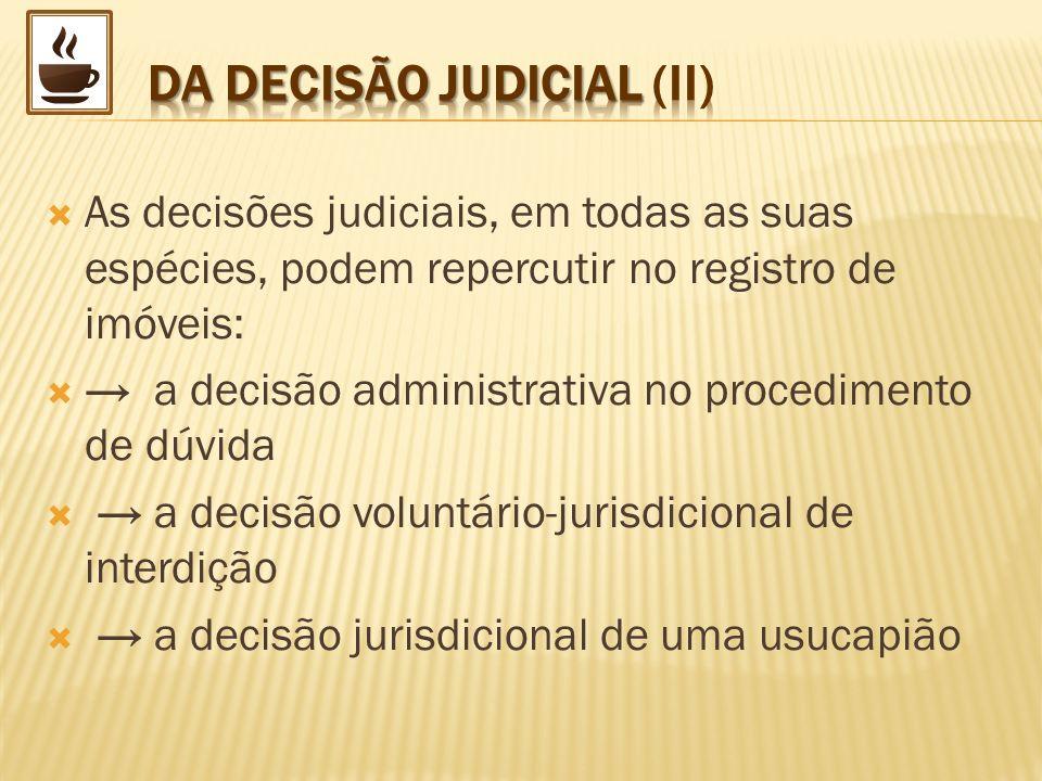 DA DECISÃO JUDICIAL (II)