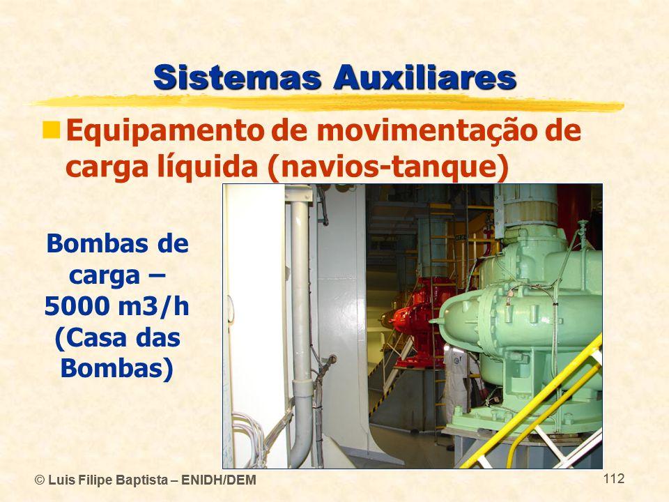 Bombas de carga – 5000 m3/h (Casa das Bombas)