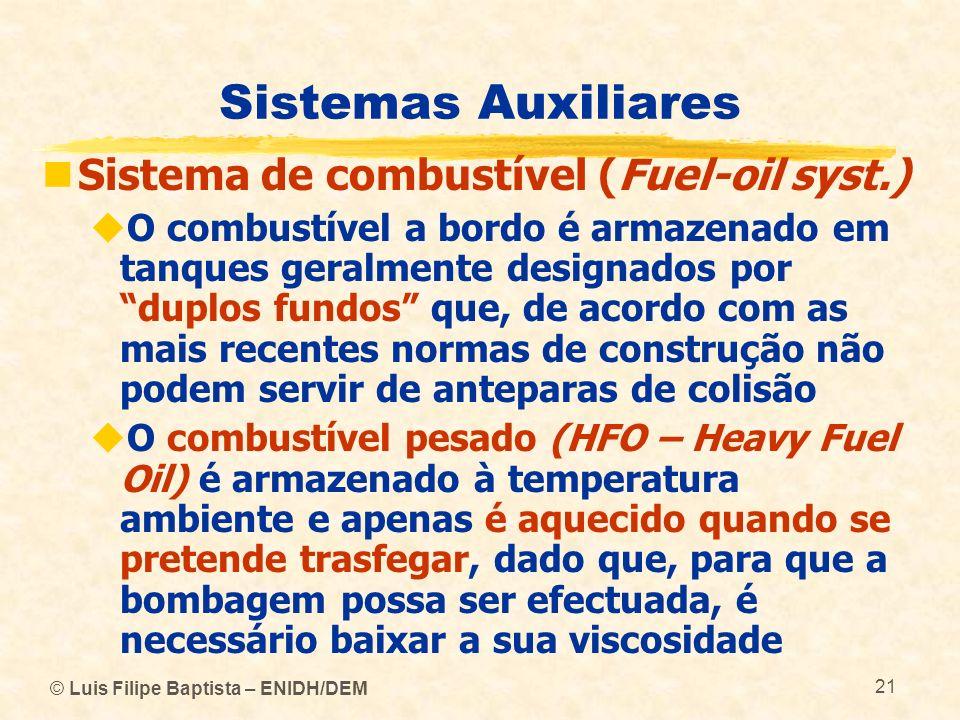 Sistemas Auxiliares Sistema de combustível (Fuel-oil syst.)