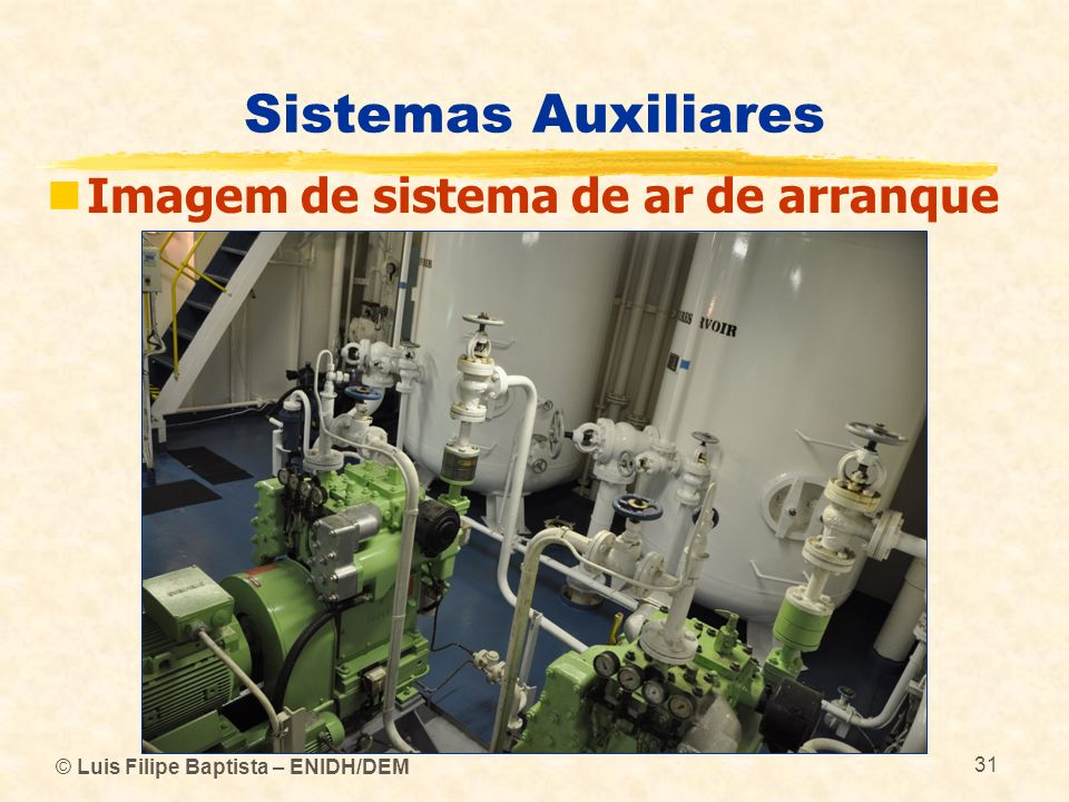 Sistemas Auxiliares Imagem de sistema de ar de arranque