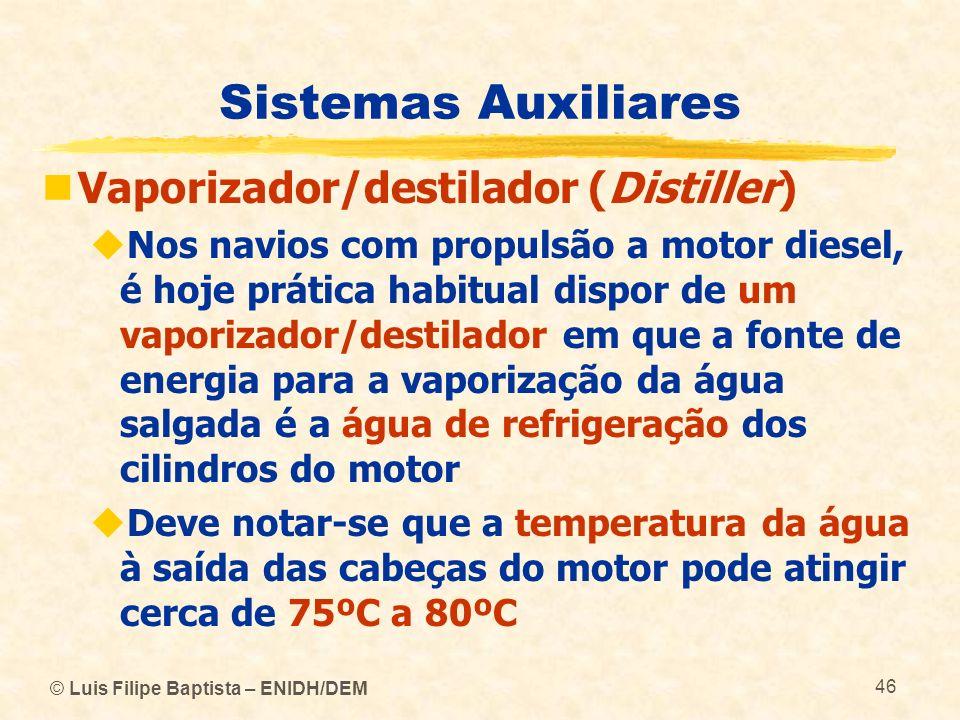 Sistemas Auxiliares Vaporizador/destilador (Distiller)