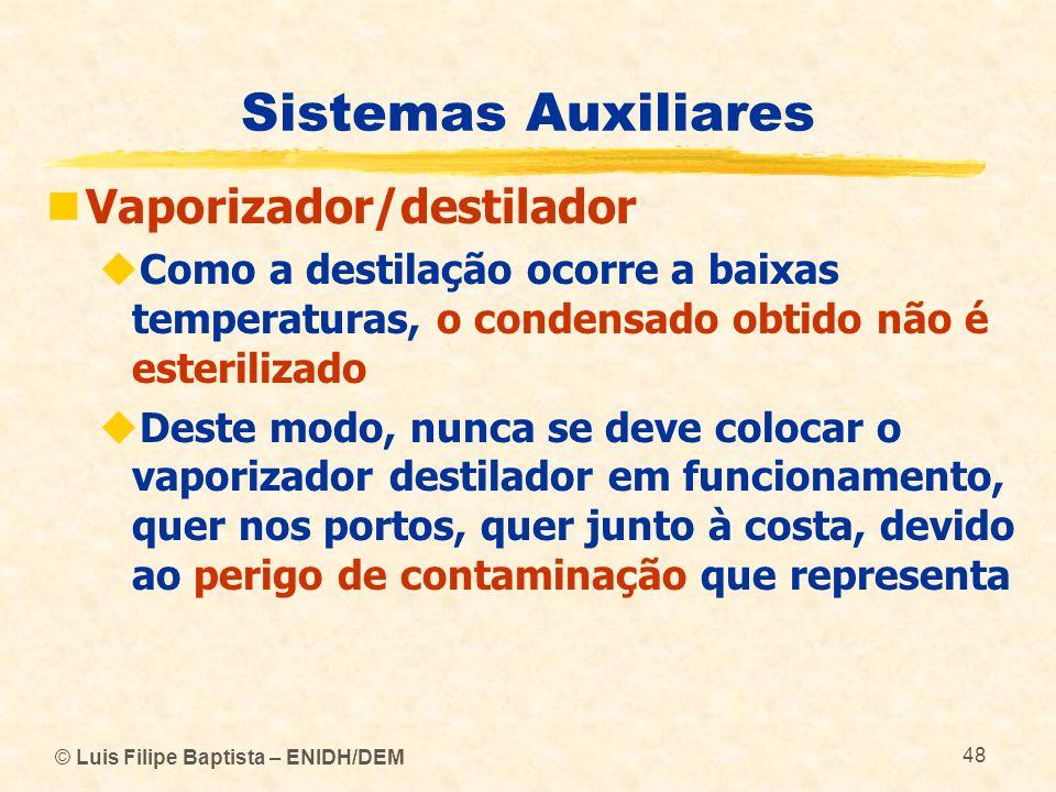 Sistemas Auxiliares Vaporizador/destilador