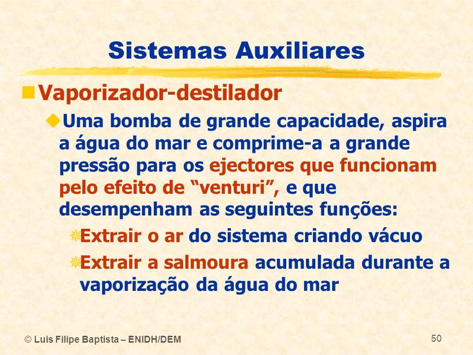 Sistemas Auxiliares Vaporizador-destilador