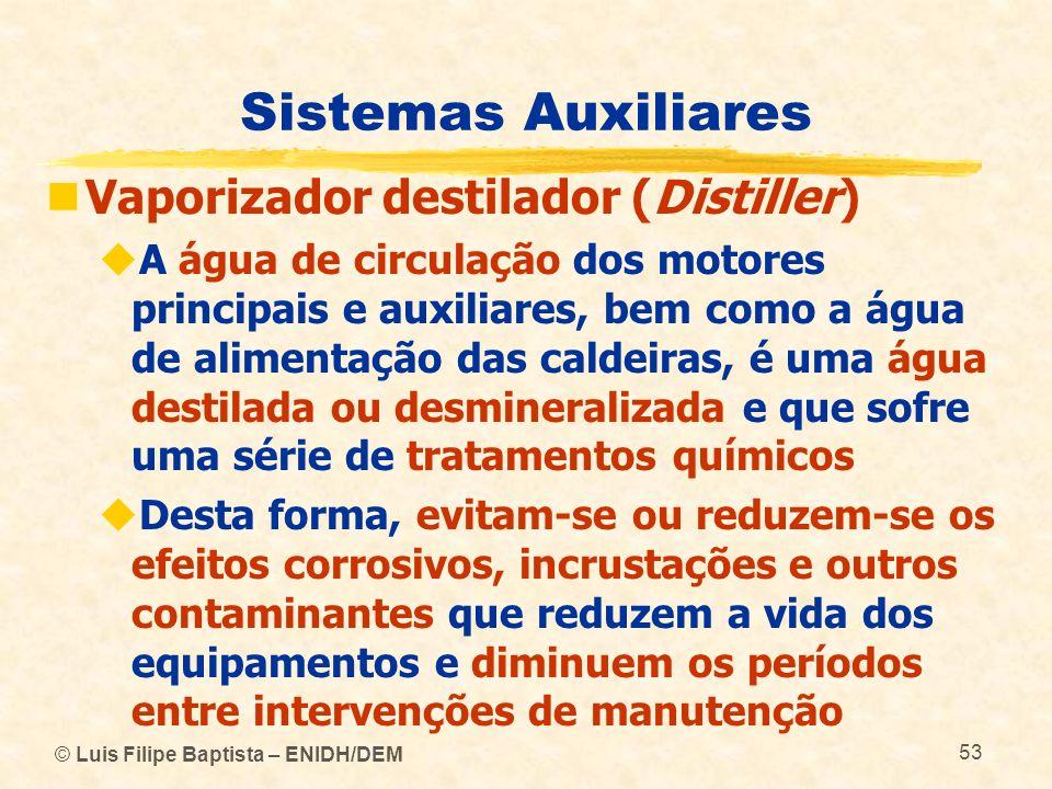 Sistemas Auxiliares Vaporizador destilador (Distiller)