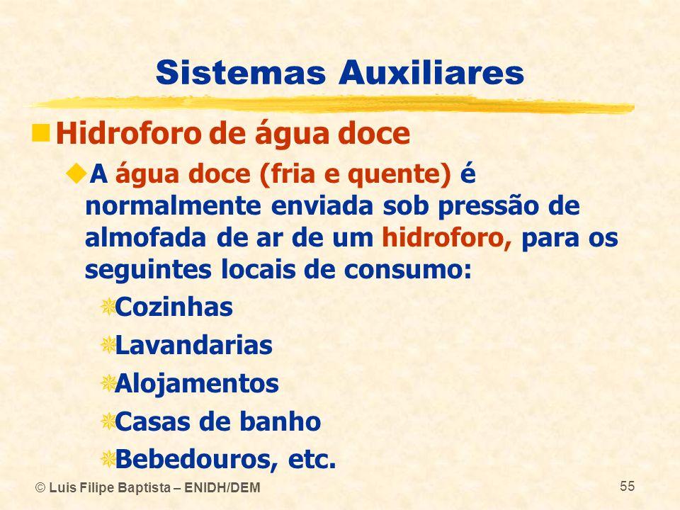 Sistemas Auxiliares Hidroforo de água doce