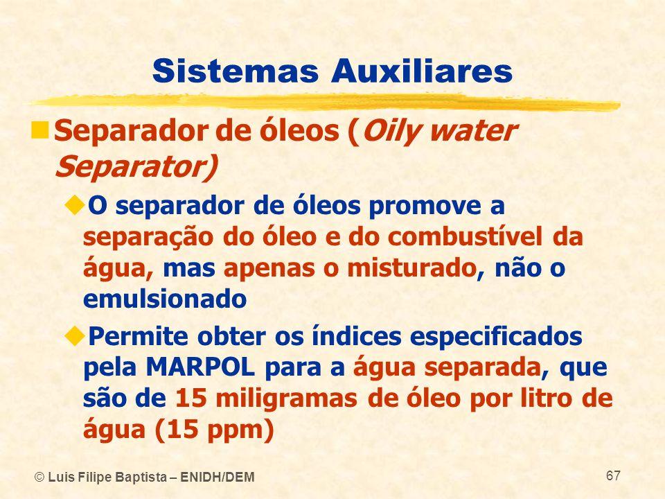 Sistemas Auxiliares Separador de óleos (Oily water Separator)
