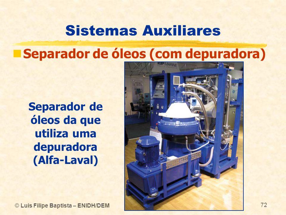 Separador de óleos da que utiliza uma depuradora (Alfa-Laval)