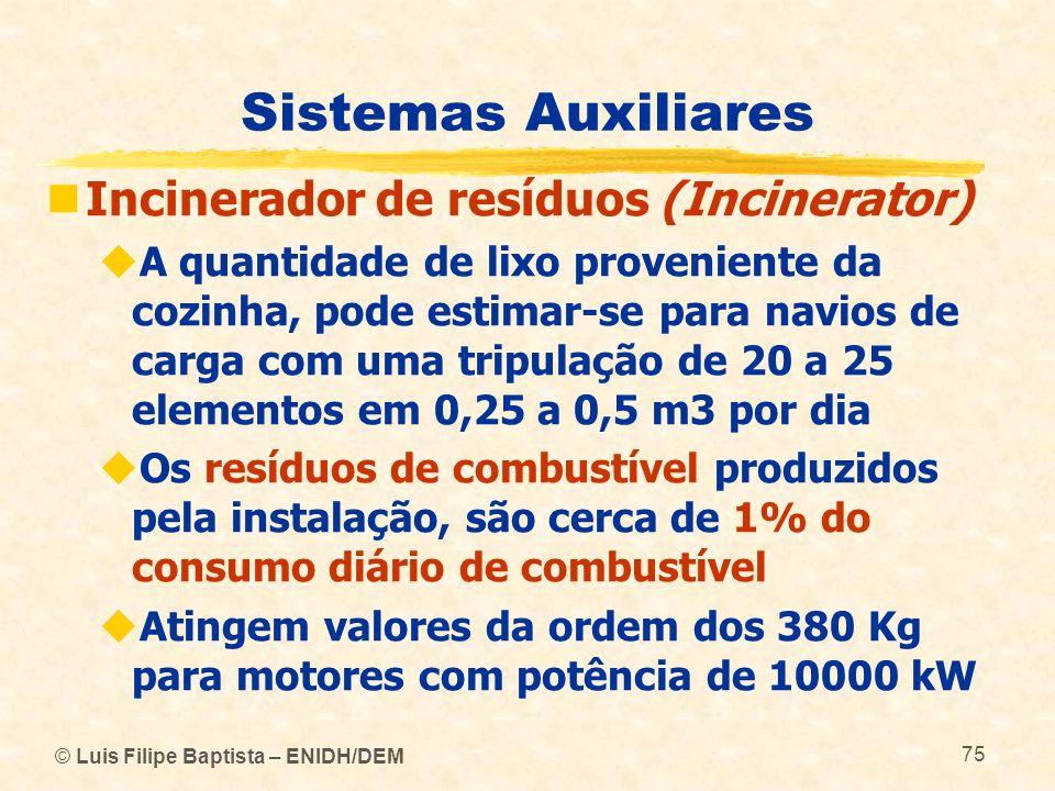 Sistemas Auxiliares Incinerador de resíduos (Incinerator)