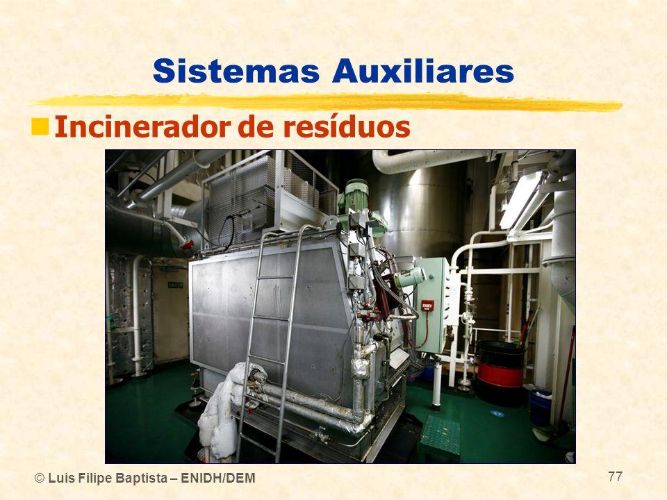 Sistemas Auxiliares Incinerador de resíduos