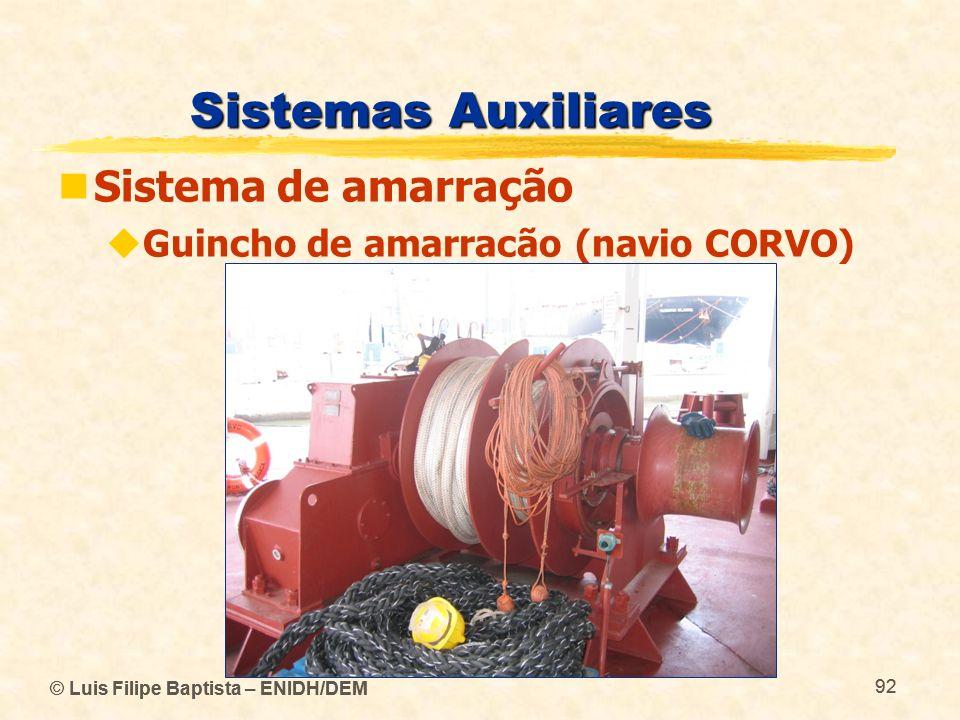 Sistemas Auxiliares Sistema de amarração