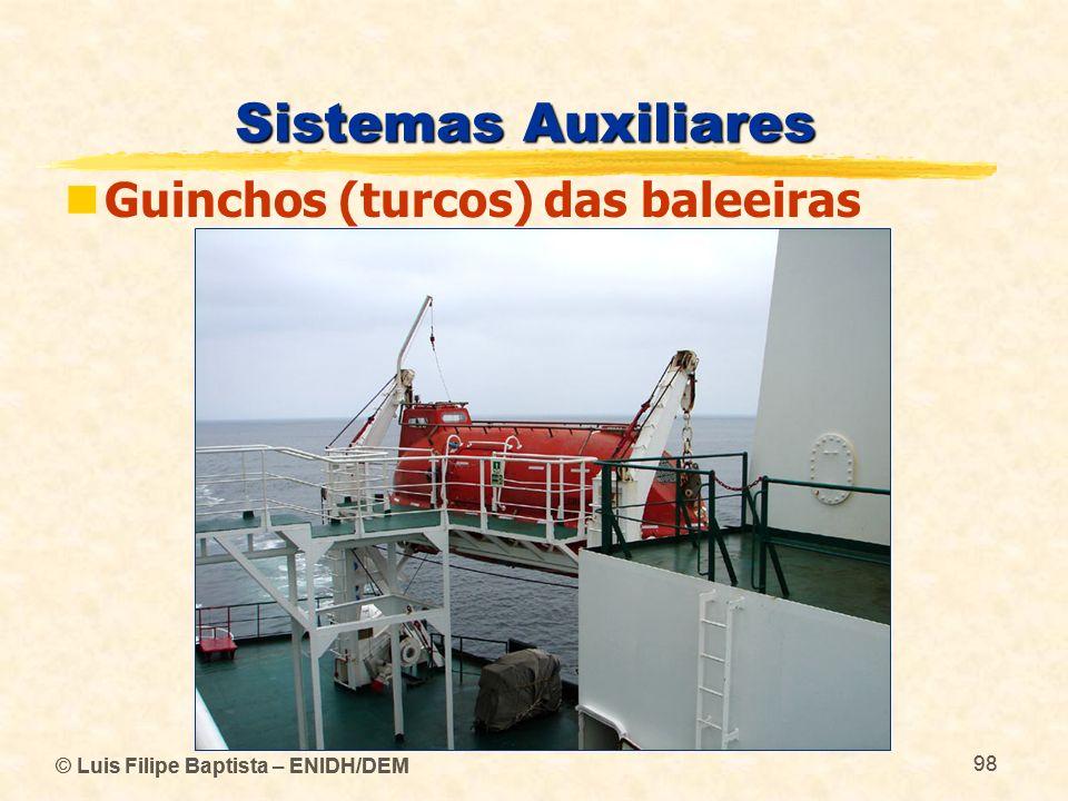 Sistemas Auxiliares Guinchos (turcos) das baleeiras