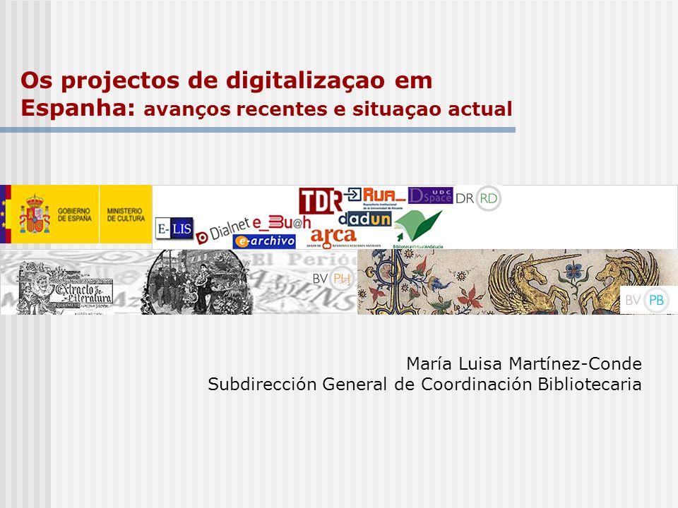 Os projectos de digitalizaçao em Espanha: avanços recentes e situaçao actual