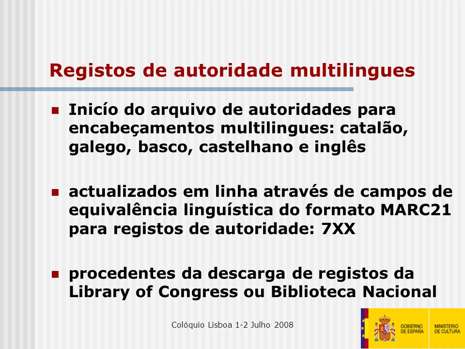 Registos de autoridade multilingues