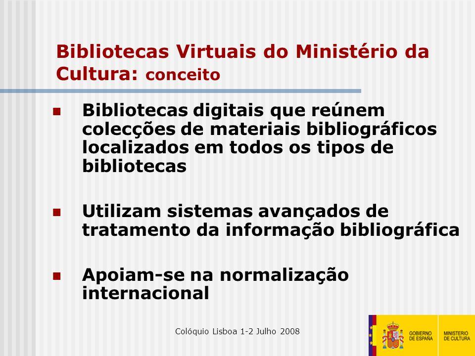 Bibliotecas Virtuais do Ministério da Cultura: conceito