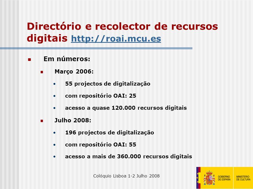 Directório e recolector de recursos digitais http://roai.mcu.es