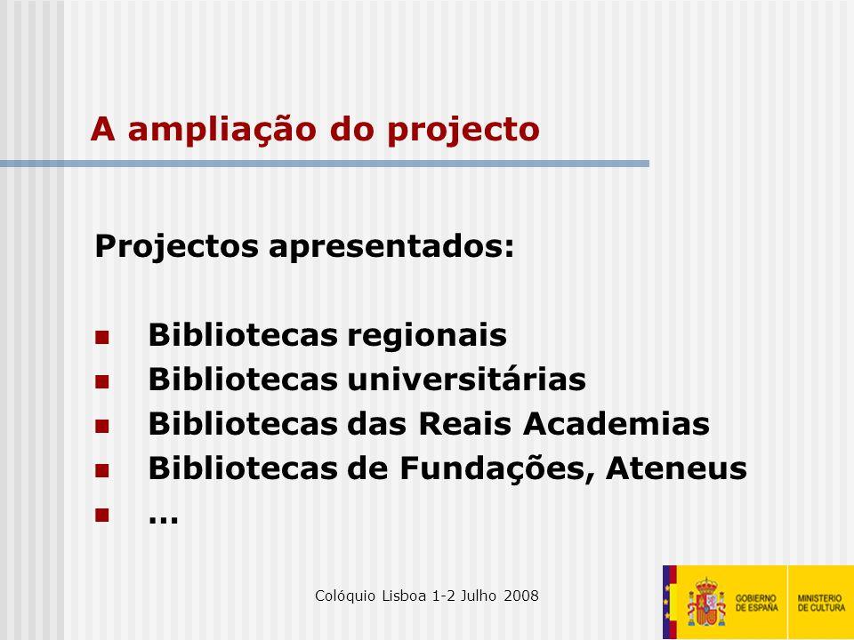 A ampliação do projecto