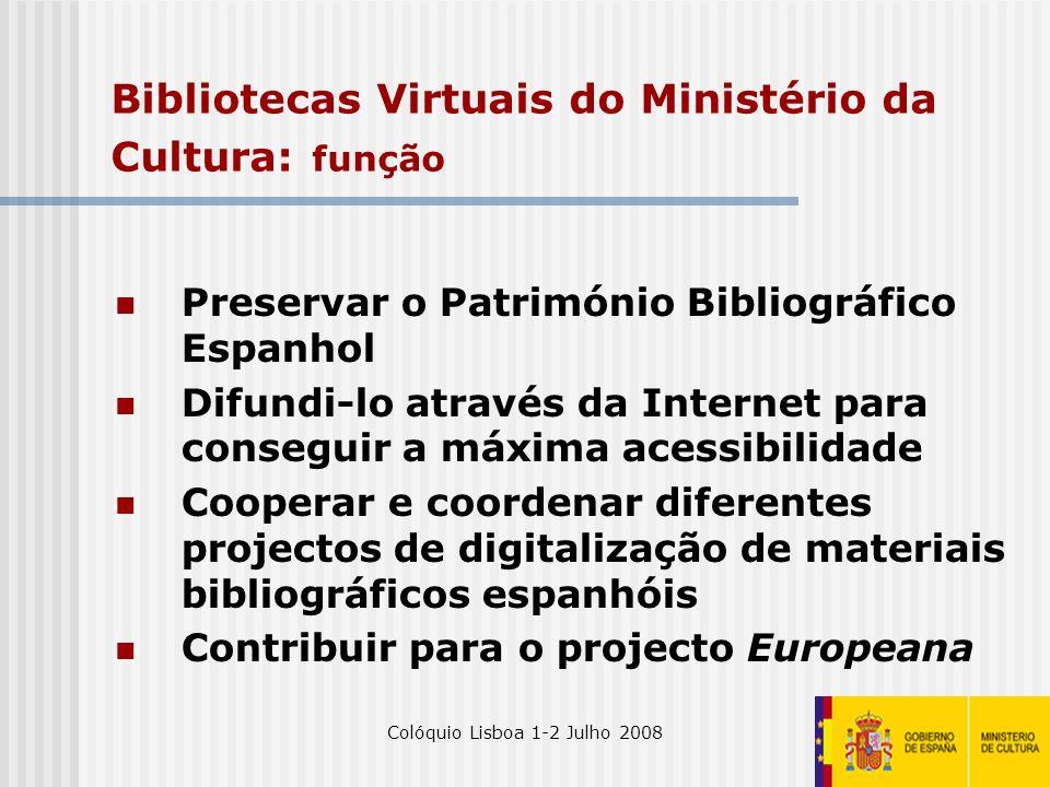 Bibliotecas Virtuais do Ministério da Cultura: função
