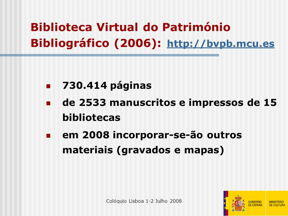 Colóquio Lisboa 1-2 Julho 2008