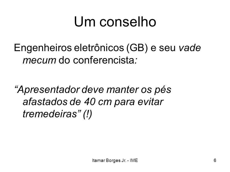 Um conselho Engenheiros eletrônicos (GB) e seu vade mecum do conferencista: