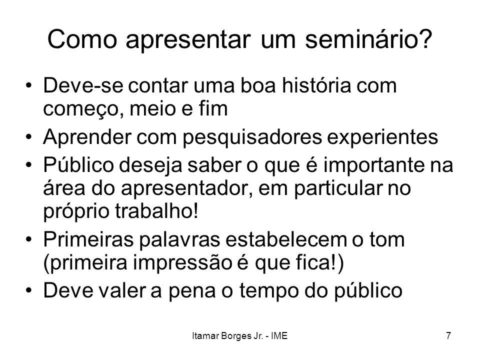 Como apresentar um seminário