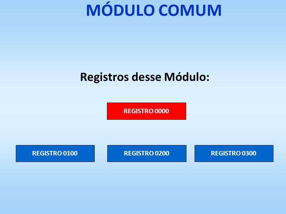Registros desse Módulo: