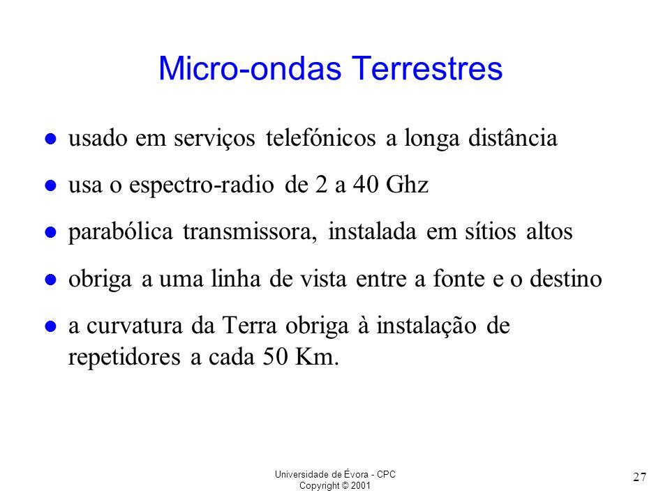 Micro-ondas Terrestres