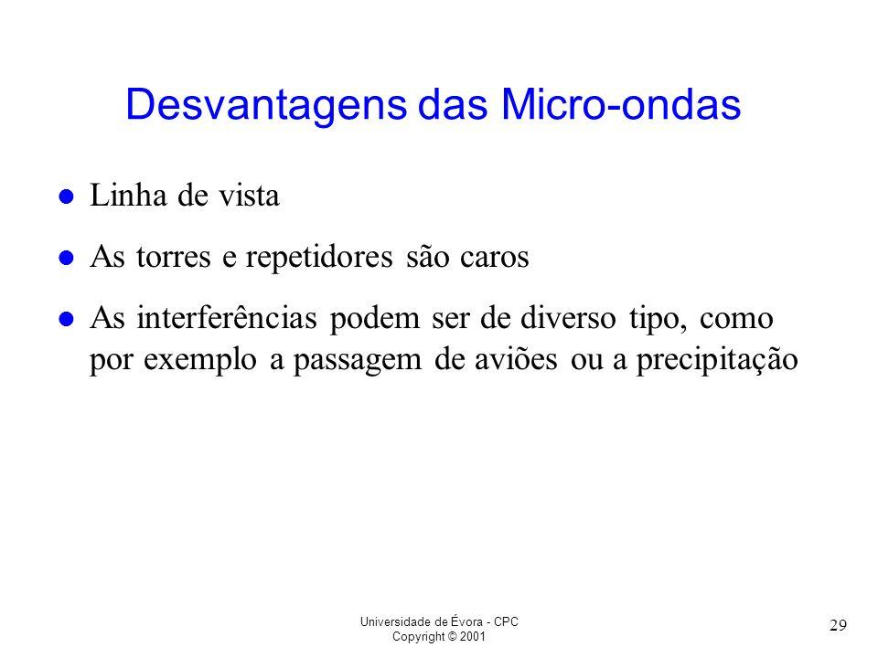 Desvantagens das Micro-ondas