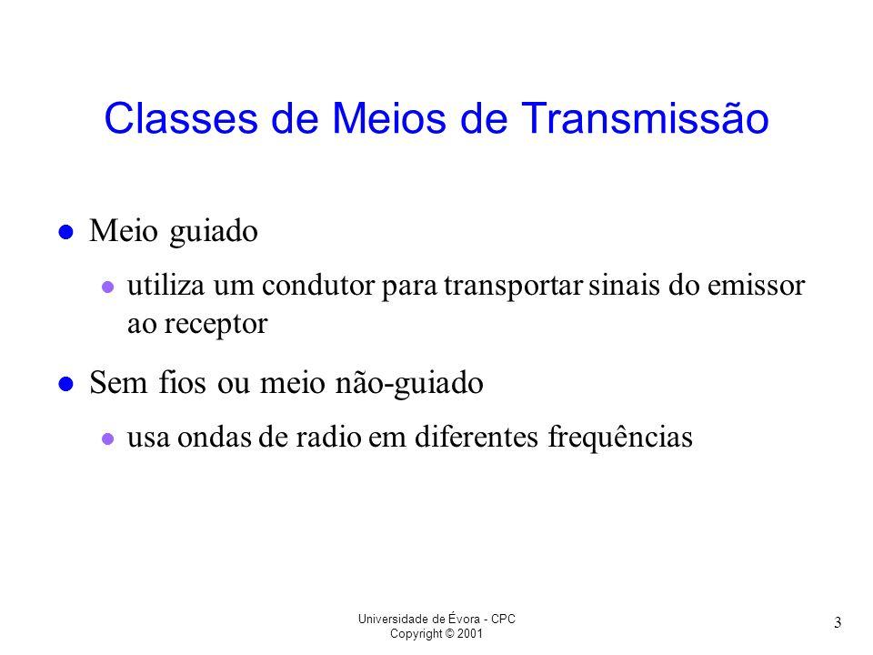 Classes de Meios de Transmissão