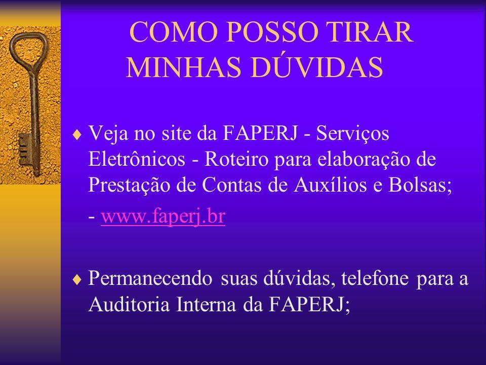 COMO POSSO TIRAR MINHAS DÚVIDAS