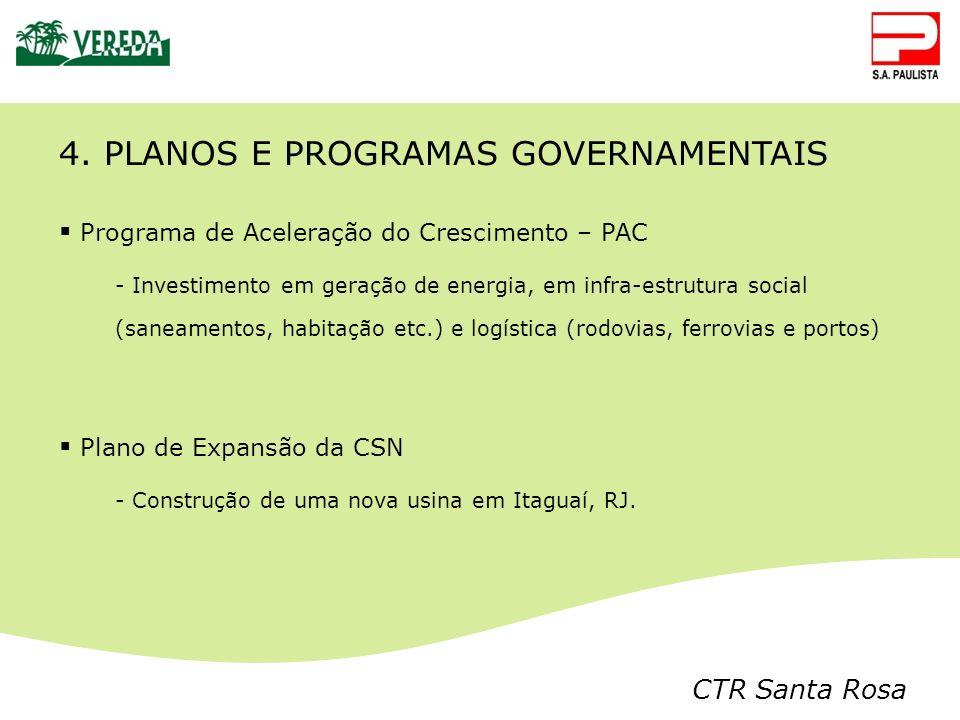4. PLANOS E PROGRAMAS GOVERNAMENTAIS