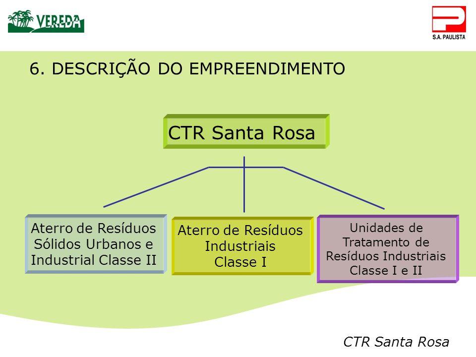 CTR Santa Rosa 6. DESCRIÇÃO DO EMPREENDIMENTO Aterro de Resíduos