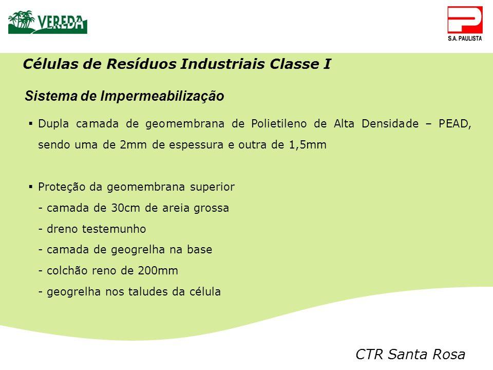 Células de Resíduos Industriais Classe I