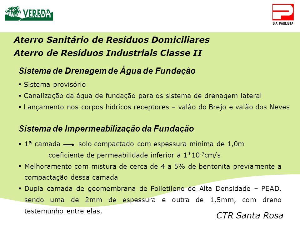 Aterro Sanitário de Resíduos Domiciliares