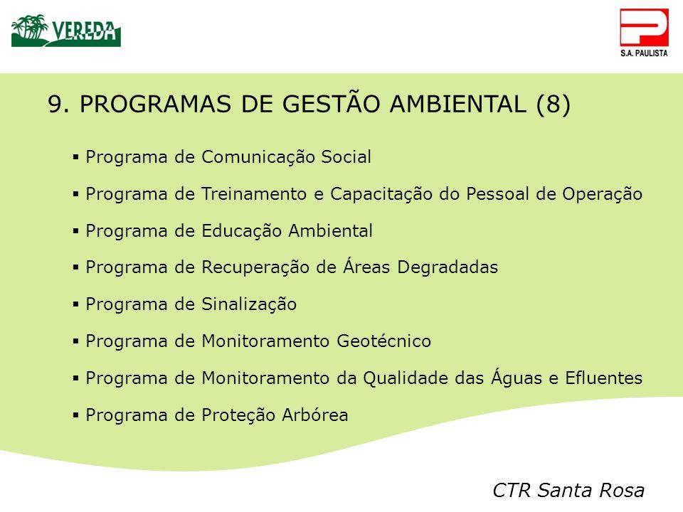 9. PROGRAMAS DE GESTÃO AMBIENTAL (8)
