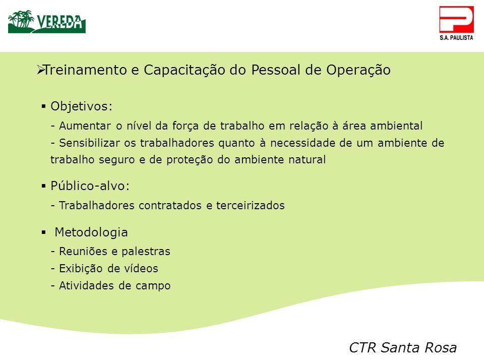 Treinamento e Capacitação do Pessoal de Operação