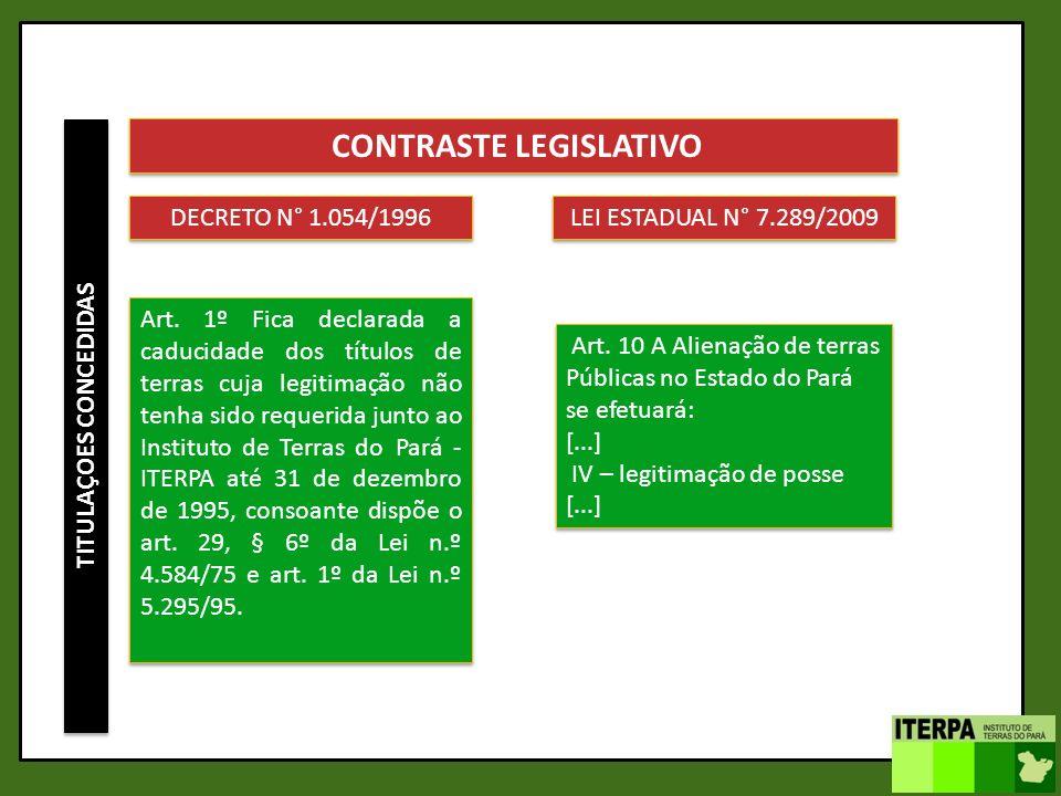 CONTRASTE LEGISLATIVO TITULAÇOES CONCEDIDAS