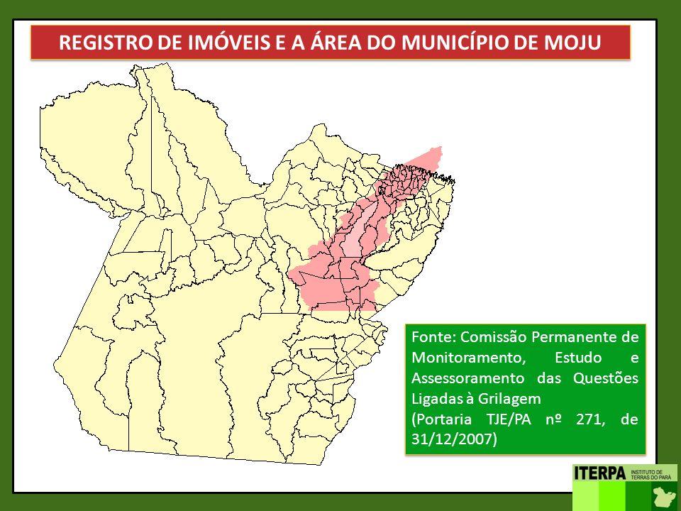 REGISTRO DE IMÓVEIS E A ÁREA DO MUNICÍPIO DE MOJU
