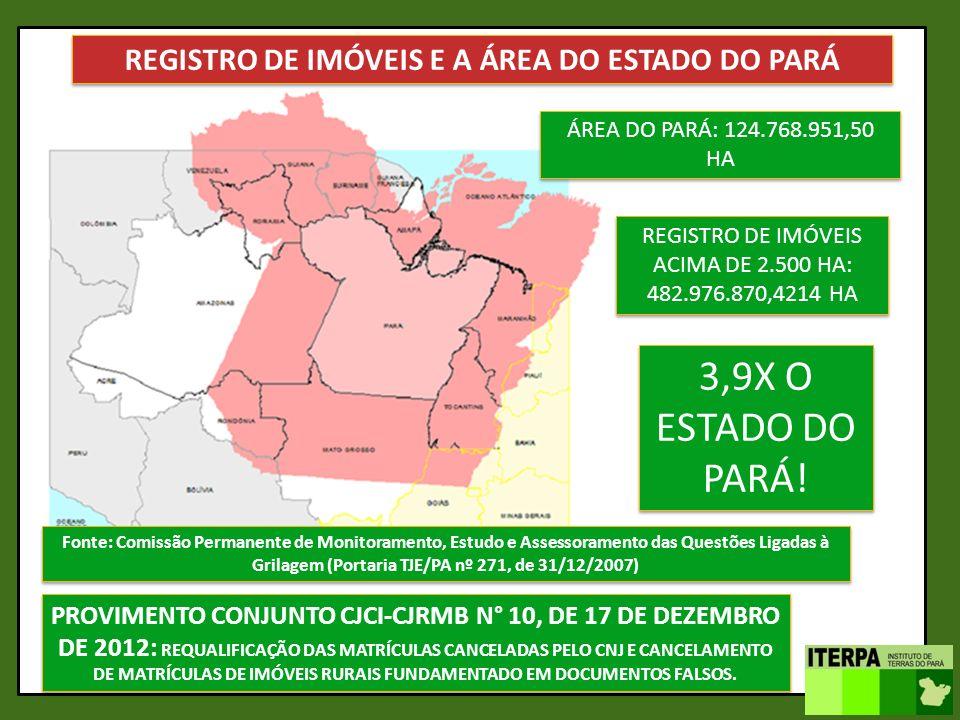 REGISTRO DE IMÓVEIS E A ÁREA DO ESTADO DO PARÁ