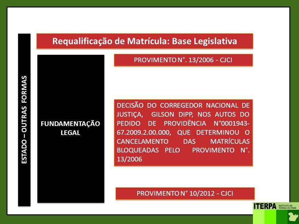Requalificação de Matrícula: Base Legislativa