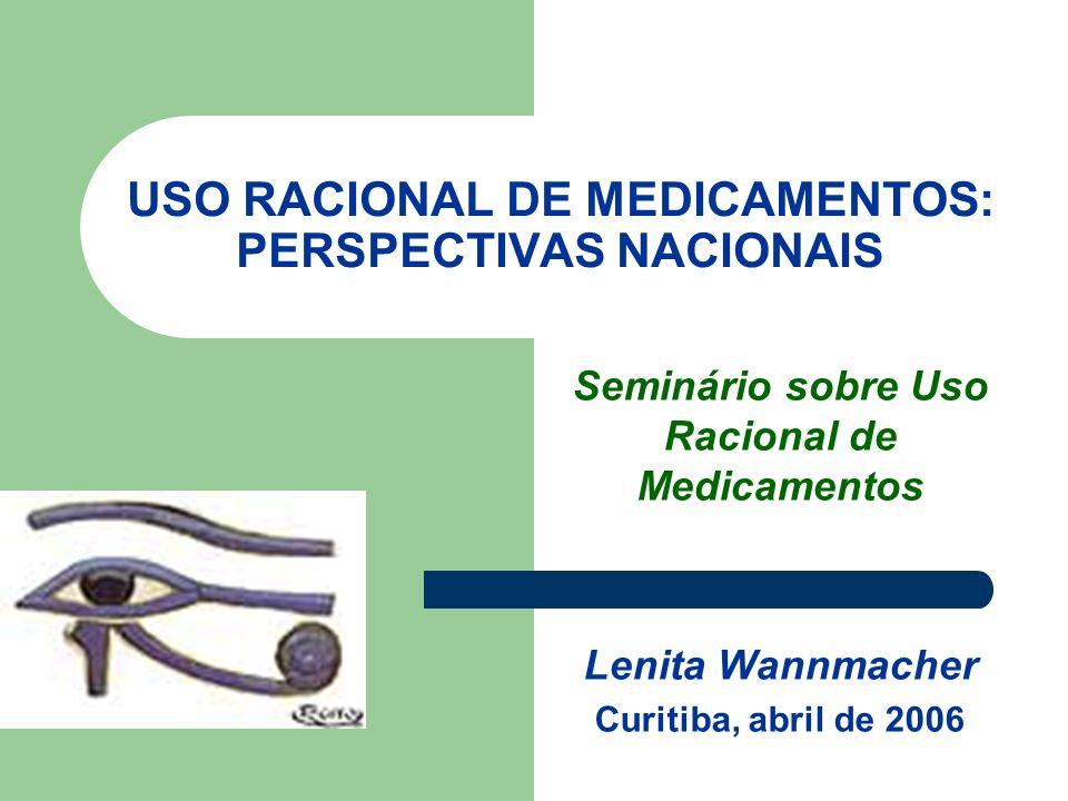 USO RACIONAL DE MEDICAMENTOS: PERSPECTIVAS NACIONAIS