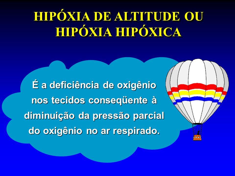 HIPÓXIA DE ALTITUDE OU HIPÓXIA HIPÓXICA
