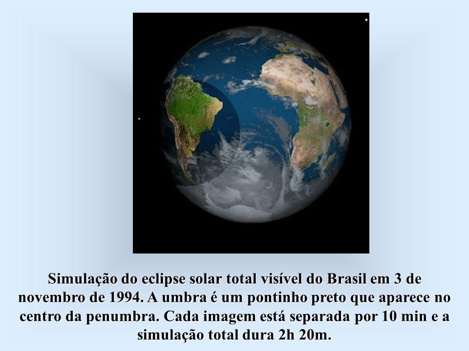 Simulação do eclipse solar total visível do Brasil em 3 de novembro de 1994.