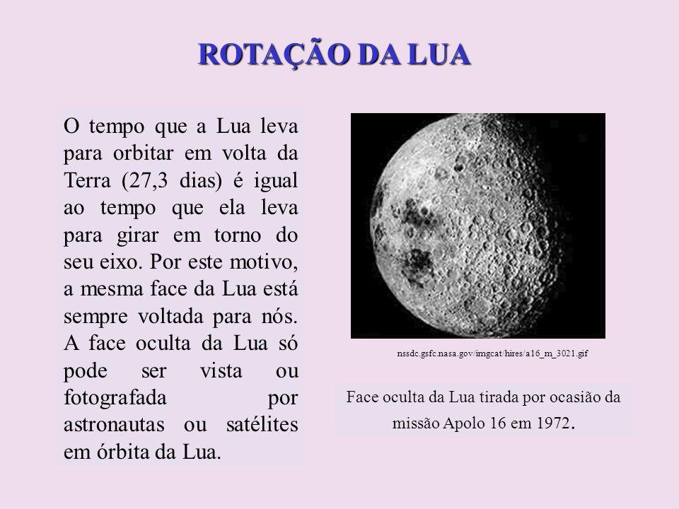 Face oculta da Lua tirada por ocasião da missão Apolo 16 em 1972.