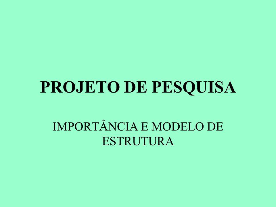 IMPORTÂNCIA E MODELO DE ESTRUTURA