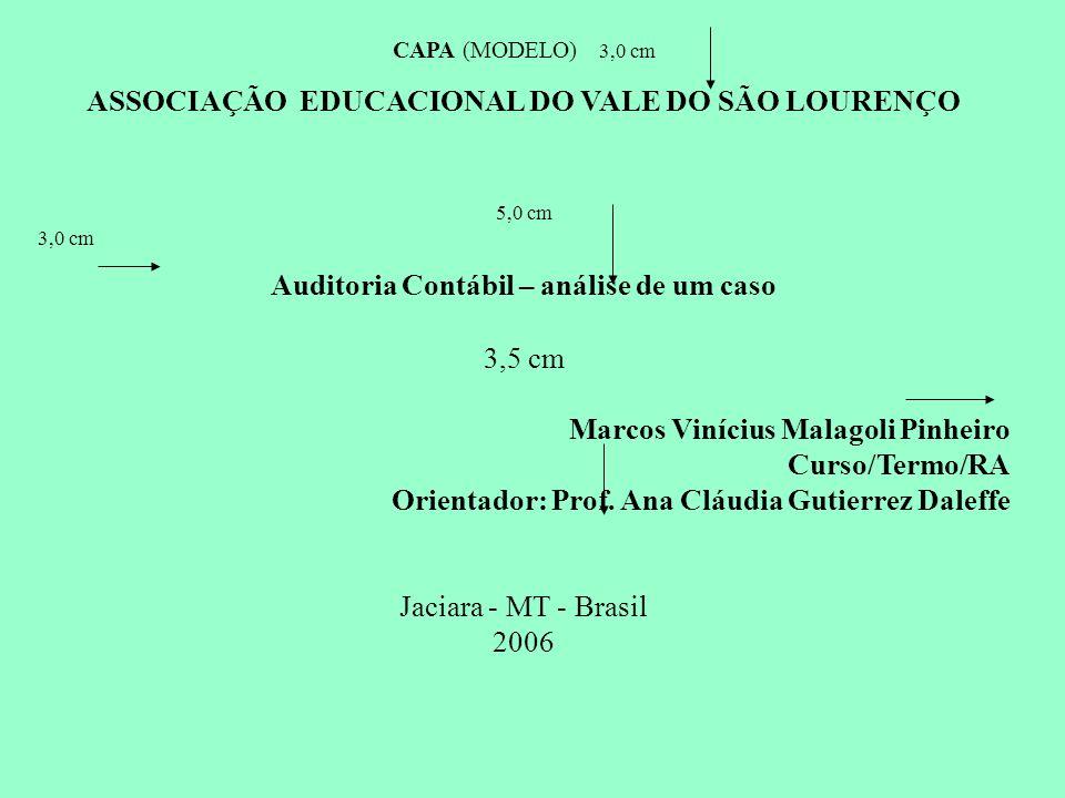 Auditoria Contábil – análise de um caso