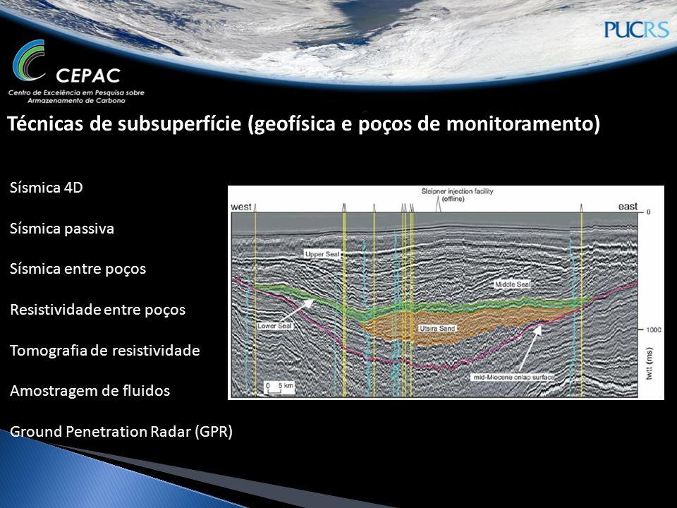 Técnicas de subsuperfície (geofísica e poços de monitoramento)