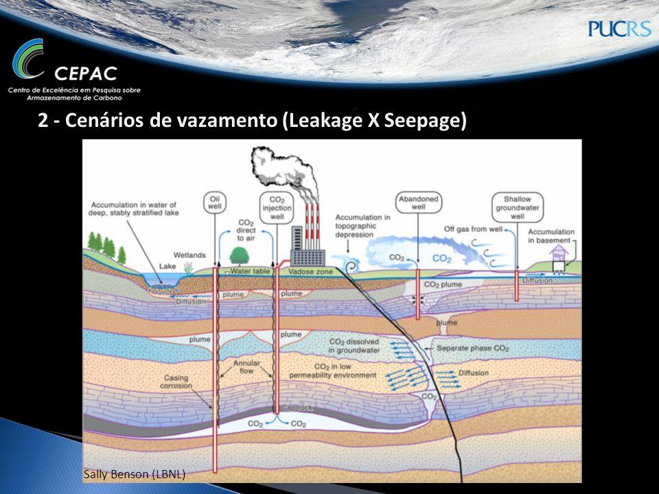 2 - Cenários de vazamento (Leakage X Seepage)