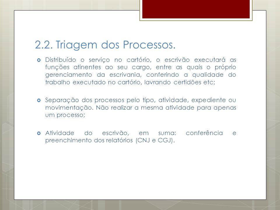 2.2. Triagem dos Processos.
