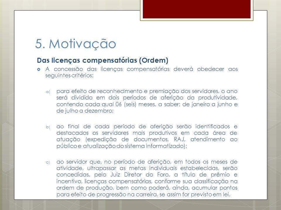 5. Motivação Das licenças compensatórias (Ordem)